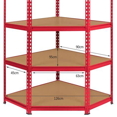 Garage Storage Racking Shelving by Corner Racking Garage Shelving 90cm Storage Units Heavy