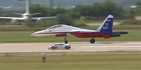 Fighterjet Vs. Supercar