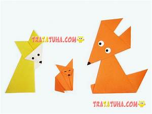 Rectangular Paper Step By Step Origami Fox Instructions