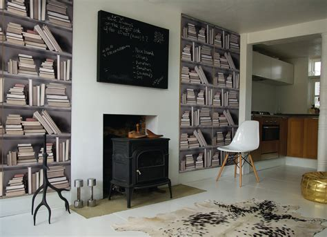 Wallpaper Bookcase Design by Ridiculously Fab Bookshelf Wallpaper Typicaldaytoday