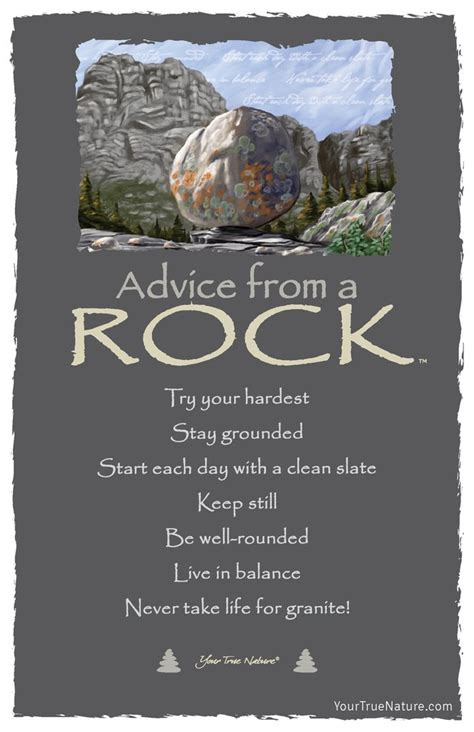 advice   rock frameable art postcard  true