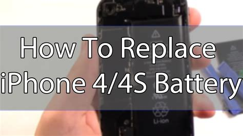 how to replace an iphone 4 4s battery