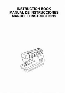 Manual De Instrucciones Maquina 3022 Janome  Maquina De Coser Recta