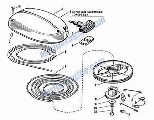 Johnson Starter Group Parts For 1962 3hp Jw