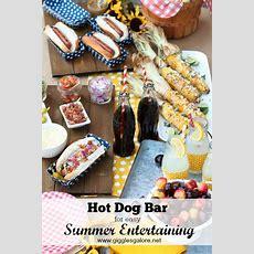 Hot Dog Bar For Easy Summer Entertaining