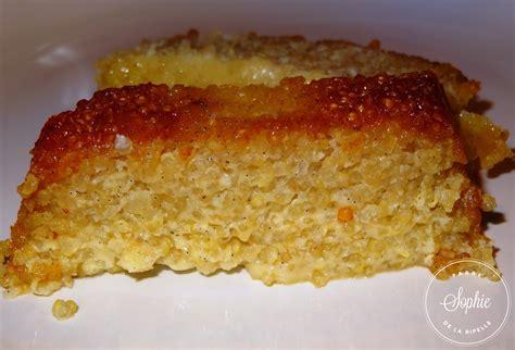 cuisiner l ananas gâteau de quinoa au caramel la tendresse en cuisine