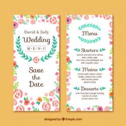 free wedding invitation sles floral wedding invitation card vector free