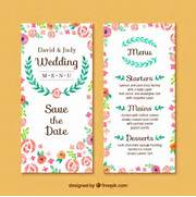 Wedding Invitation Card THERUNTIME COM Wedding Invitation Marriage Invitation Cards New BridelDress Wedding Invitation Cards Designs Elegant Floristic Wedding Invitation Card Vector Free