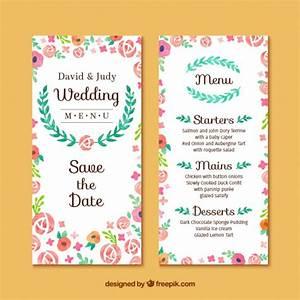 floral wedding invitation card vector free download With wedding invitation template freepik