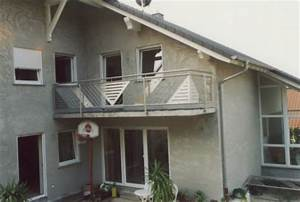 Balkon Mit Glas : gel nder edelstahlgel nder als au engel nder an einem balkon mit glas und lochblech ~ Frokenaadalensverden.com Haus und Dekorationen