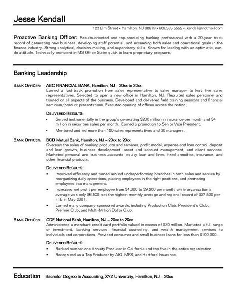 Experienced Resume Exles by Cover Letter To Bank Of America