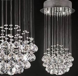 Lamparas lampara de arana colgante 50cm largo cristal for Como hacer lamparas de cristal colgantes