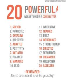 Words To Put In A Resume by The Sorority Secrets 20 Powerful Words To Use In A Resume