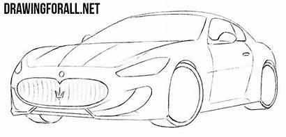 Maserati Draw Drawing Cars Sketch Step Drawingforall
