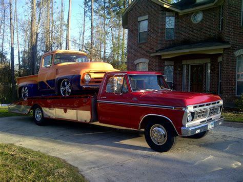 ford  carhauler ramp truck hodges wedge flatbed