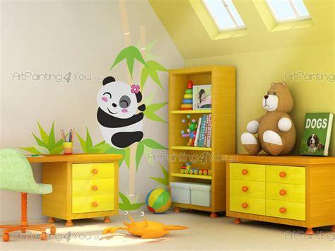 chambre panda stickers chambre bébé ours panda 1968fr