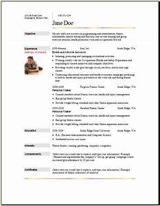 sports fitness resume occupationalexamplessamples free With fitness resume template