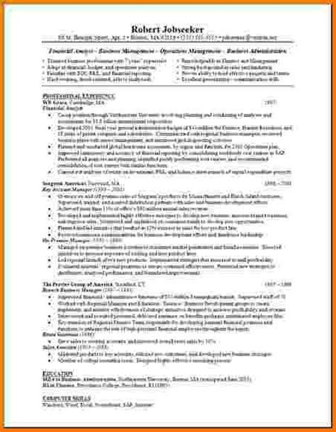 Analyst Resume Objective Statement by 8 Financial Analyst Cv Financial Statement Form