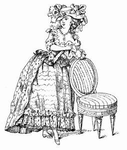 Vintage French Clip Art Marie Antoinette Esque Lady With