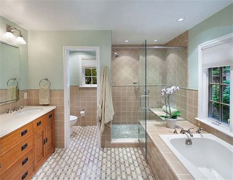 Beautiful Bathroom With Shower And Tub