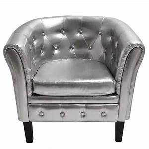 Chesterfield leder sessel silber gunstig kaufen vidaxlde for Chesterfield sessel leder