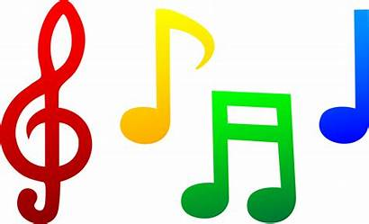Notes Symbols Musical Colorful Clip Clipart Note