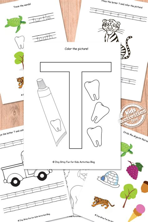 letter t worksheets free printable 293 | letter t featured