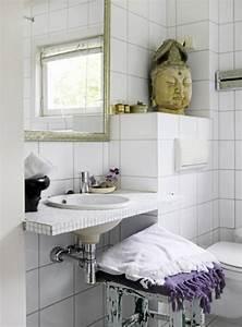 Déco Salle De Bains : du carrelage blanc dans la salle de bain c 39 est zen ~ Melissatoandfro.com Idées de Décoration