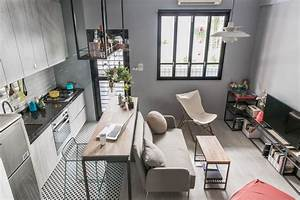 Tiny Studio Apartment with Loft Bed for a Single Woman in