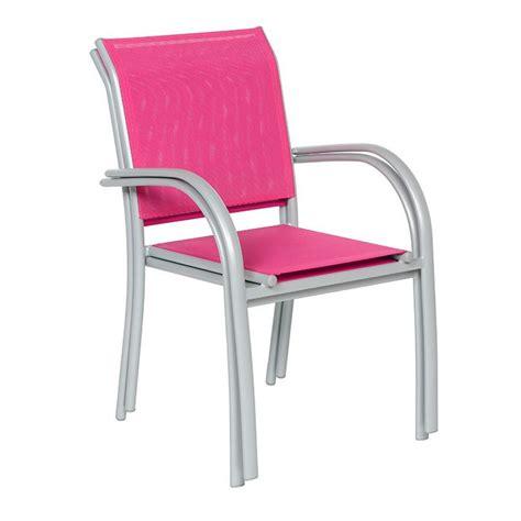 fauteuil de jardin empilable piazza framboise silver
