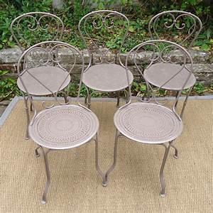 Chaise De Jardin En Fer : chaises de jardin en fer anciennes ~ Teatrodelosmanantiales.com Idées de Décoration