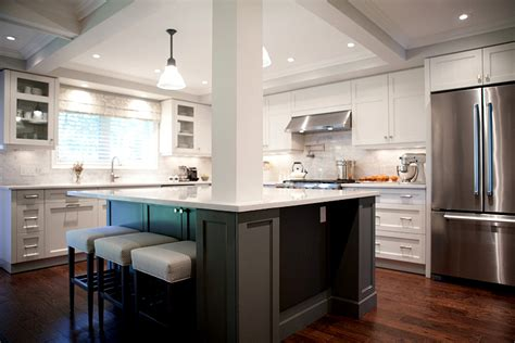 kitchen island with post don t dis the bi level and split level susan yeley interiors 5218