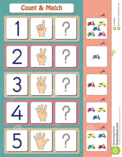 preschool worksheet gallery matching nursery matching