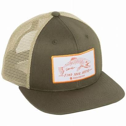 Hat Water Trucker Fishing Redington Hats Rockbed