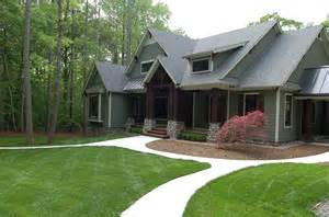 Craftsman Style Home Front Yard Landscaping