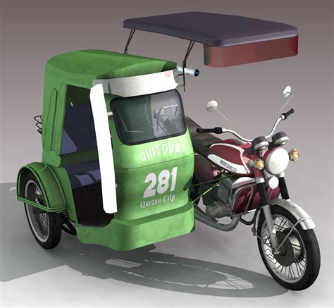 tricycle philippines philippine tricycle 3d lwo