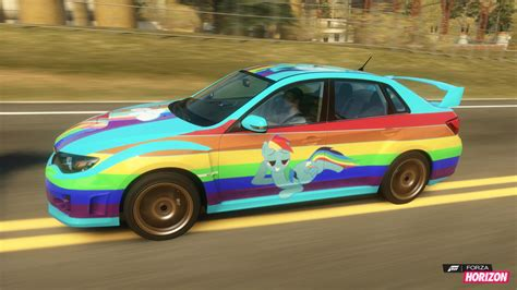 rainbow cars rainbow dash subaru car by dashiesparkle on deviantart
