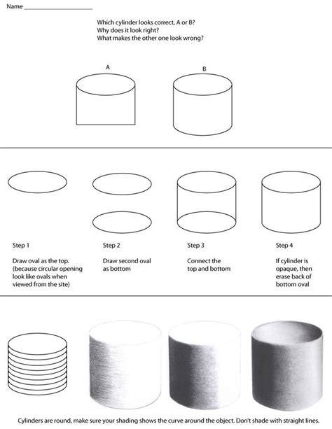 draw cylinder  instructions  assignment
