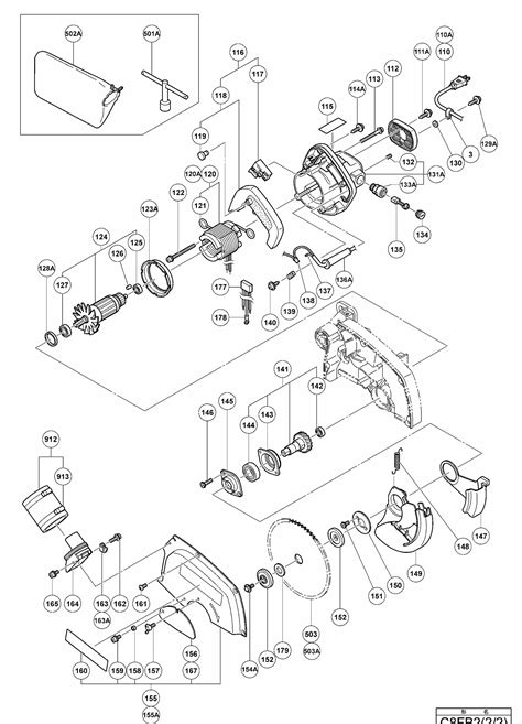 Hitachi Table Saw Wiring Diagram by Hitachi C8fb2 Miter Saw Motor Assy Parts Mtr