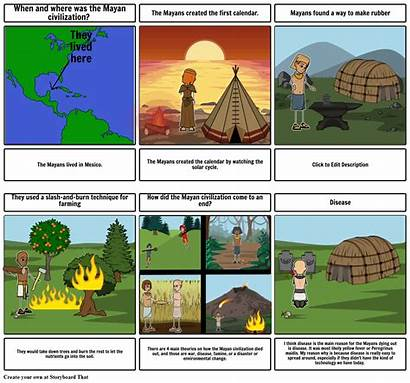 Comic Strip Mayan