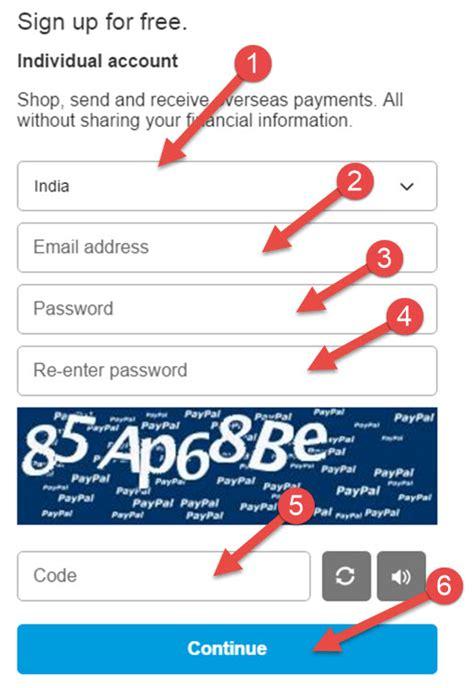 paypal sign up form paypal kya hai or paypal account kaise banaye ki jankari
