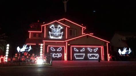 halloween halloween light show house