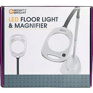 mighty bright 174 led floor light magnifier grey black