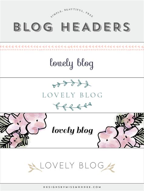 Blog Header Designs  Designs By Miss Mandee