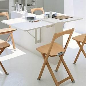 table gain de place 55 idees pliantes rabattables ou With petite table de cuisine design