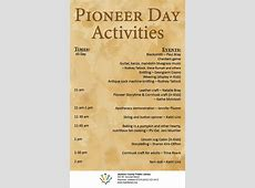 Stop by Pioneer Day today! – Jackson County Public Library