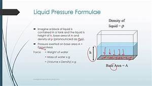 What Are The Factors That Affect Pressure Of A Liquid