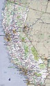 Large detailed road and highways map of California state ...