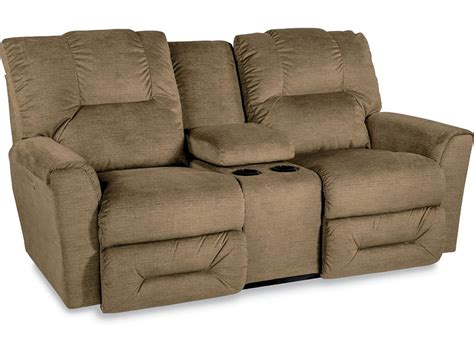 Reclining Loveseat With Middle Console by La Z Boy Living Room Power La Z Time Reclining