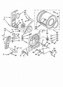 Admiral Residential Dryer Bulkhead Parts